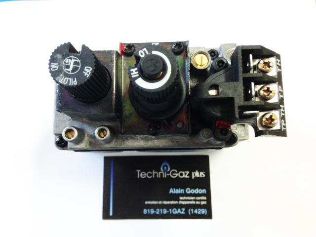 installation de valve de four à gaz